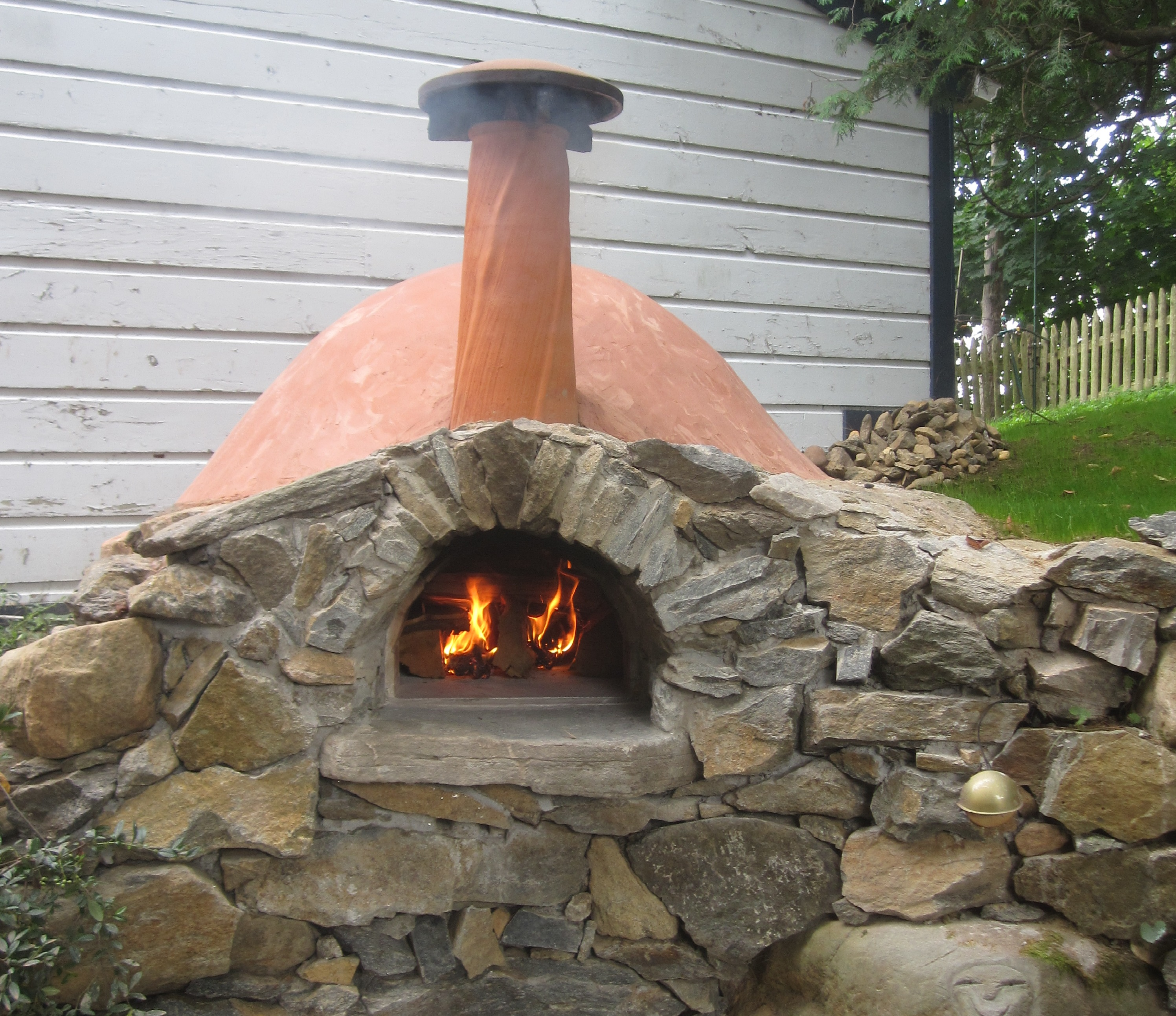 backyard pizza and bread oven